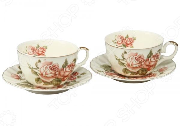 Чайная пара Rosenberg 8730Чайные и кофейные пары<br>Чайная пара Rosenberg 8730 незаменимый элемент повседневного чаепития. Иногда так приятно выпить чаю в компании близких и друзей из аккуратных чашек на блюдечках. Именно поэтому этот набор займет достойное место на любой кухне или же станет прекрасным подарочным вариантом в честь знаменательного события. В комплекте две чашки и два блюдца 14 см .<br>