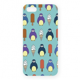 фото Чехол для iPhone 5 Mitya Veselkov «Пингвины и эскимо»
