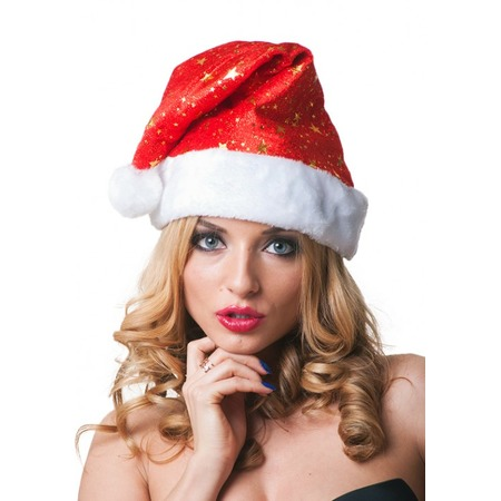 Купить Новогодний колпак Accessories со звездами 03414