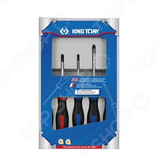 Набор отверток King Tony KT-30115MRНаборы отверток<br>Набор отверток King Tony KT-30115MR незаменимый комплект при выполнении монтажных и демонтажных работ, ремонте электроники, различной техники и так далее. Такой набор обязательно должен быть в инвентаре хозяина, готового в любой момент справиться с ремонтной задачей своими силами. В комплекте 5 отверток.<br>