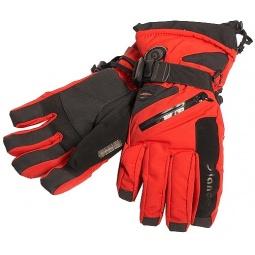 Купить Перчатки горнолыжные GLANCE Fighter (2013-14). Цвет: черный, красный