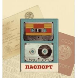 фото Обложка для паспорта Феникс-Презент «Аудиокассеты»