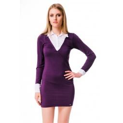 фото Платье Mondigo 8523. Цвет: баклажановый. Размер одежды: 44