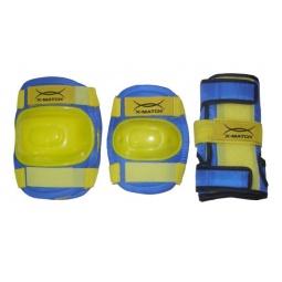 фото Комплект защиты для роликовых коньков X-MATCH PW-308. Цвет: желтый. Размер: S