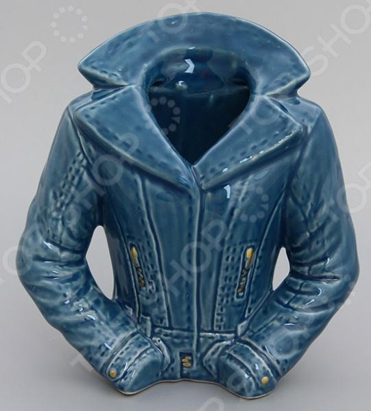 фото Ваза декоративная Elan Gallery «Джинсовый пиджак», Вазы
