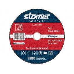 фото Диск отрезной Stomer по металлу. Размер: 180х2,5 мм. Модель: CD-180