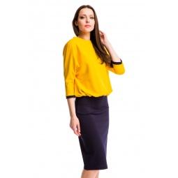 фото Платье Mondigo 25174-2. Цвет: горчичный. Размер одежды: 52