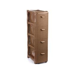 фото Комод 4-х секционный узкий IDEA М 2814. Цвет: коричневый