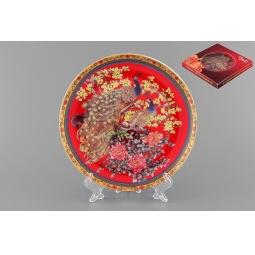 Купить Тарелка декоративная Elan Gallery «Павлин на красном»