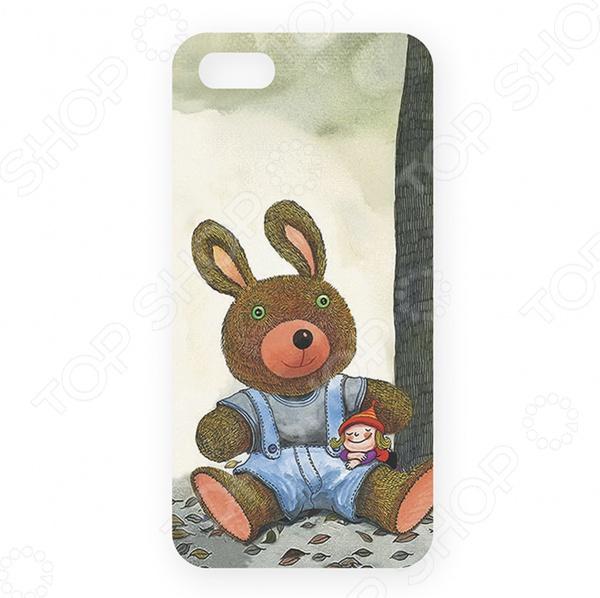 Чехол для iPhone 5 Mitya Veselkov «Мишка и малышка» цена и фото