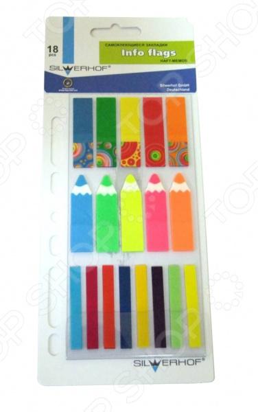 Набор: стикеры-закладки и карандаш Silwerhof 801005. В ассортиментеБумага для заметок. Стикеры. Блоки<br>Товар продается в ассортименте. Вид товара при комплектации заказа зависит от наличия товарного ассортимента на складе. Набор: стикеры-закладки и карандаш Silwerhof 801005 - набор различных и оригинальных закладок разной формы, толщины и цвета. В наборе находятся 5 блоков закладок с печатью, которые имеют размер 42х12 мм, 5 блоков стикеров в виде карандаша - 45х12 мм и 8 блоков узких стикеров - 45х7 мм. Стикеры позволят значительно сократить время на поиск необходимой информации. С такими стикерами можно будет обозначить разделы, выделять необходимые страницы в книгах или деловых журналах и создавать свои собственные заметки.<br>