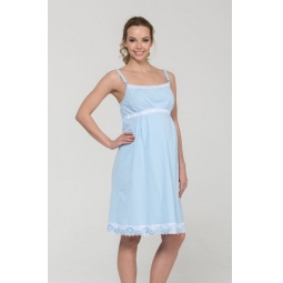 Купить Сорочка для беременных Nuova Vita 102.6. Цвет: голубой