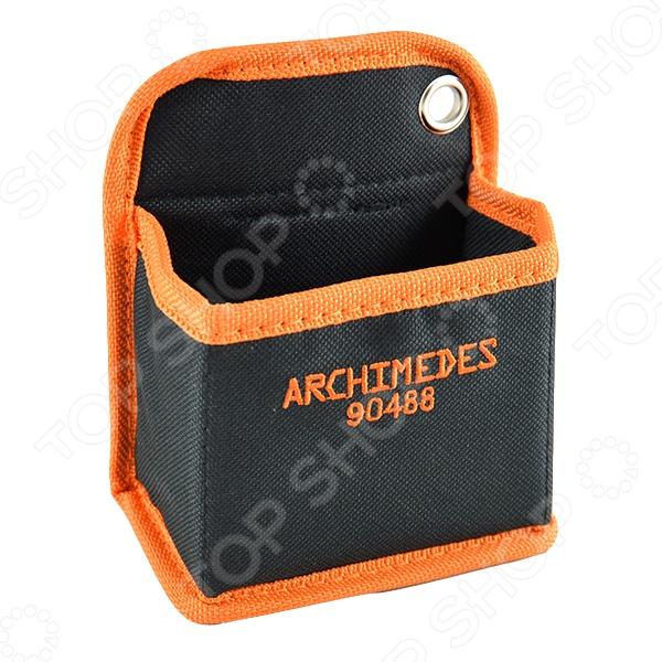 Кобура для гвоздей Archimedes 90488Прочие аксессуары и комплектующие для ремонта и строительства<br>Кобура для гвоздей Archimedes 90488 нейлоновая емкость для хранения и перемещения гвоздей, саморезов и других небольших инструментов и деталей. Прочный нейлон не изнашивается с течением времени. Внутри кобуры вшит сильный магнит, который не позволит металлическим деталям затеряться. Такая деталь понравится каждому мастеру простотой использования и удобным дизайном.<br>