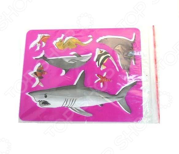 Трафарет пластиковый Луч «Морские обитатели». В ассортименте