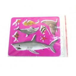 фото Трафарет пластиковый Луч «Морские обитатели». В ассортименте