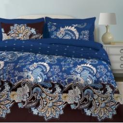 фото Комплект постельного белья Любимый дом «Болеро». Цвет: синий. 2-спальный