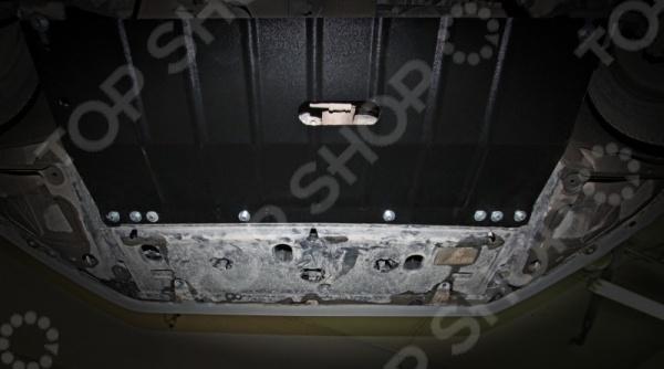 Комплект: защита картера и крепеж Novline-Autofamily Peugeot 208 Gti 2013: 1,6 бензин АКППЗащита картера двигателя<br>Как обезопасить и защитить свой автомобиль Этот вопрос волнует каждого, кто владеет собственным транспортным средством. В условиях плохих дорог, которые изобилуют глубокими ямами, ухабами и прочими препятствиями, этот вопрос становится как никогда актуальным и важным. Чтобы избежать преждевременного износа и повреждения двигателя, узлов и агрегатов, расположенных в нижней части кузова или под капотом следует обратить внимание на комплекты защитных аксессуаров для вашей марки авто. Комплект: защита картера и крепеж Novline-Autofamily Peugeot 208 Gti 2013: 1,6 бензин АКПП станет отличным выбором для вашего автомобиля, так как разработан специально с учетом особенностей российских дорог. Это значит, что он имеет достаточную жесткость, чтобы выдерживать удары при наезде на препятствия и соответствует всем требуемым нормам пассивной безопасности. Использование современных технологий 3D-сканирования гарантирует высокий уровень подгонки защитных аксессуаров, поэтому их использование и монтаж не составит никакого труда. При производстве аксессуаров также применяется метод высокоточной лазерной резки и мощные гибочные прессы, позволяющие добиться идеально точной формы защиты. Кроме этого, комплект обладает рядом других преимуществ, как например:  специальное порошковое покрытие, обеспечивающее высокую защиту всех металлических поверхностей от воздействия коррозии, царапин и других механических повреждений;  крепежные элементы с оцинкованной поверхностью с высокой устойчивостью к воздействию агрессивной внешней среды, антигололедных реагентов, что исключает заедание резьбы и уменьшает риск ржавления в месте соединения с кузовом;  резиновые вставки, предотвращающие возникновение вибраций и посторонних шумов, что делает движение на скорости ещё более безопасным и комфортным;  технологические отверстия для более комфортного обслуживания, которые закрываются специ