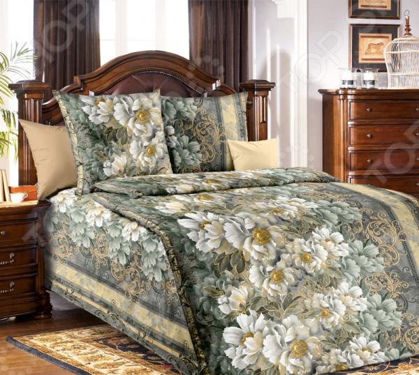 Комплект постельного белья ТексДизайн «Анжелика». 1,5-спальный1,5-спальные<br>Комплект постельного белья ТексДизайн Анжелика это удобное постельное белье, которое подойдет для ежедневного использования. Чтобы ваш сон всегда был приятным, а пробуждение легким, необходимо подобрать то постельное белье, которое будет соответствовать всем вашим пожеланиям. Приятный цвет, нежный принт и высокое качество ткани обеспечат вам крепкий и спокойный сон. Бязь, из которой сшит комплект отличается следующими качествами:  достаточно мягка и приятна на ощупь, не имеет склонности к скатыванию, линянию, протиранию, обладает повышенной гигроскопичность, практически не мнется, не растягивается, не садится, не выгорает, гипоаллергенен, хорошо отстирывается и не теряет при этом своих насыщенных цветов;  ворсинки микрофибры равномерно распределяют статическое электричество;  обладает высокой воздухопроницаемостью, хорошим охлаждающим эффектом, быстро сохнет, ему не страшны загрязнения, грибок и моль;  за счёт специального переплетения волокон ткань устойчива к механическим воздействиям. Постельное белье отличается экологически чистыми материалами и устойчивыми красителями. Ткань устойчива к механическим воздействиям. Перед первым применением комплект постельного белья рекомендуется постирать. Перед стиркой выверните наизнанку наволочки и пододеяльник. Для сохранения цвета не используйте порошки, которые содержат отбеливатель.<br>