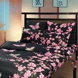 Купить Комплект постельного белья ТексДизайн «Сакура». 1,5-спальный