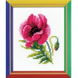 фото Набор для вышивания крестиком Сотвори Сама «Розовый мак»