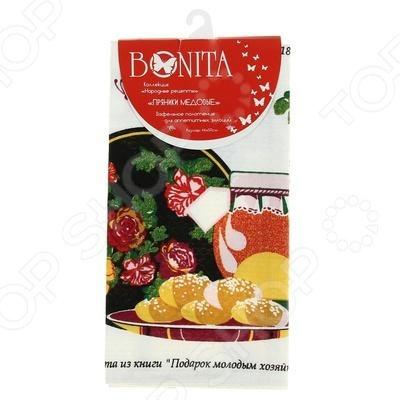 Полотенце вафельное BONITA «Пряники медовые» браун с медовые ночи