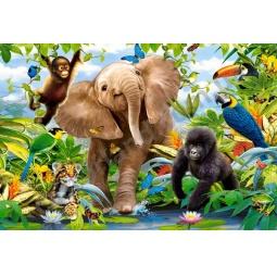 Купить Пазл 40 элементов Castorland «Малыши из джунглей»