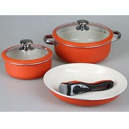 Купить Набор посуды для готовки Pomi d'Oro Terracotta Conveniente Set