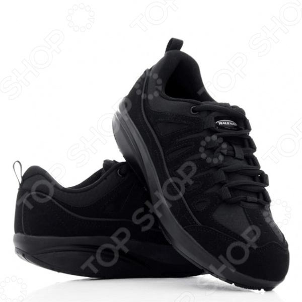 Кроссовки Walkmaxx Фитнес. Цвет: черныйКроссовки. Кеды. Мокасины<br>Кроссовки Walkmaxx Фитнес улучшат вашу осанку, приведут в тонус ваши мышцы и помогут вам чувствовать себя лучше. Всего лишь пол часа в день в обуви Вокмакс могут изменить вашу жизнь. Главное преимуществ обуви состоит в округлой подошве, которая обеспечивает комфорт, гибкость и естественную качающуюся поддержку движения. За счет этой подошвы, достигается эффект естественного покачивания, поэтому вес вашего тела равномерно распределяется, давление на ноги, суставы, спину и бедра уменьшается. Мягкие подушки для пяток создают дополнительный комфорт и амортизацию. Каждый ваш шаг будет легким. У вас будет ощущение того что вы ходите босиком. Когда вы носите обувь Walkmaxx Фитнес, ваши мышцы укрепляются, и улучшается координация. Благодаря Walkmaxx Фитнес вырабатывается правильная походка. Потому что задействованы пятка, свод стопы и даже пальцы. Они делают каждый шаг легким, что очень важно. А также Вокмакс поддерживают и улучшают баланс вашего тела. 4 сантиметровый подъем подошвы позволяет снять основную нагрузку со спины и суставов. Вокмакс поддерживают баланс вашего тела. А это значит, что они помогут укрепить и подтянуть икры, бедра, ягодицы и мышцы живота. Уникальные свойства кроссовок Walkmaxx Фитнес:  Модный дизайн, сделанный из улучшенной резины EVA для дополнительной амортизации  Округленная подошва гарантирует раскачивающуюся поддержу  Очень удобные и легкие, ощущение что шагаете по мягкому песку  Мягкие подушки на месте пяток обеспечат комфорт  4 сантиметровый подъем подошвы позволяет снять основную нагрузку со спины и суставов  Улучшают положение ног и крепко держатся на лодыжке.<br>