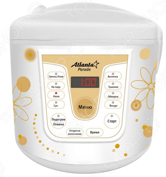 Мультиварка Atlanta ATH-1567Мультиварки<br>Мультиварка Atlanta ATH-1567 незаменимая помощница на кухне, поскольку делает приготовление большинства блюд значительно проще. Это устройство позволит значительно сэкономить ваше время. Достаточно положить необходимые ингредиенты в чашу и выбрать одну из автоматических программ. Удобное интуитивное управление не вызовет затруднений в процессе использования.  Объем чаши составляет 4 литра.  Предусмотрено 8 программ приготовления.  В целях безопасности оснащена защитой от перегрева.  Автоматическая функция поддержания тепла.  Мощность 700 Ватт.<br>
