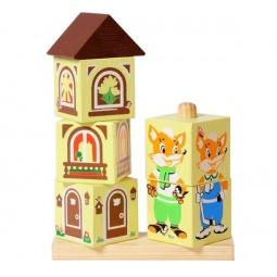 Купить Кубики обучающие Томик на палочке «Лисенок»