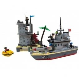 фото Игровой конструктор Brick «Островной форт» 819
