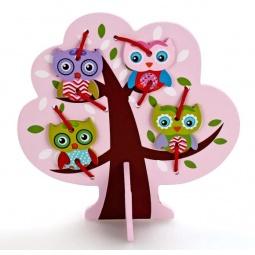 фото Игра развивающая для малыша Mapacha «Шнуровка. Дерево с совятами»