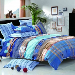 фото Комплект постельного белья Amore Mio Denim. Provence. 1,5-спальный