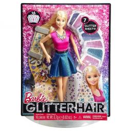 фото Набор игровой с куклой Barbie «Блестящие волосы»