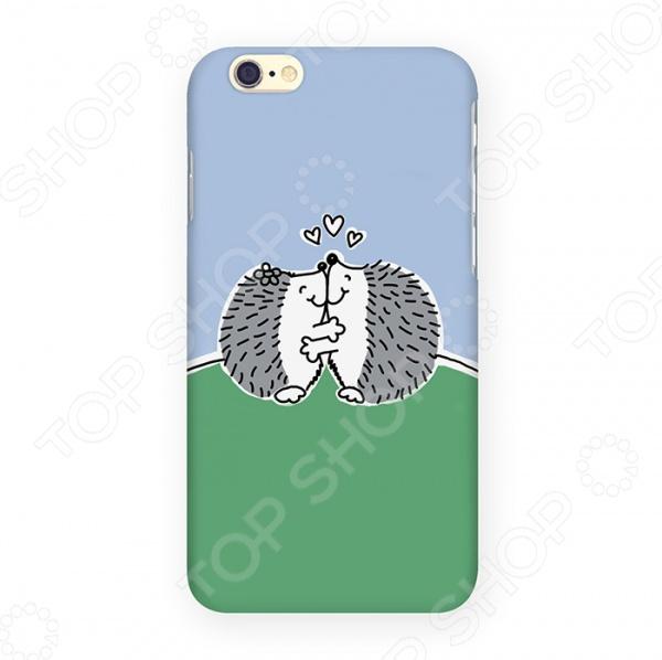 Чехол для iPhone 6 Mitya Veselkov «Влюбленные ежики» mitya veselkov чехол для iphone 6 скандинавская лошадка