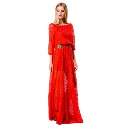 фото Платье Mondigo 5344. Цвет: коралловый. Размер одежды: 42