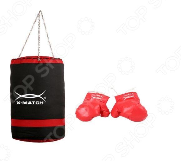 Набор для бокса детский X-MATCH 87715Бокс для детей<br>Набор для бокса детский X-MATCH 87715 станет отличным приобретением для юного спортсмена. С ним у малыша появится возможность попробовать себя в роли профессионального боксера и отработать навыки кулачного боя. Занятия боксом тренируют у детей выносливость, скорость реакции и физическую силу, а также повышают самооценку и уверенность в себе. В набор входит подвесная боксерская груша и перчатки.<br>