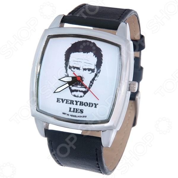 Часы наручные Mitya Veselkov «Доктор Хаус» CHНаручные часы унисекс<br>Часы наручные Mitya Veselkov Доктор Хаус CH стильный аксессуар, который дополнит ваш образ. Сочетаются с необычной и яркой одеждой. Часы выполнены в оригинальном стиле в сочетании с приятными и мягкими тонами, которые добавляют настроение. Дизайн и ручная сборка Митя Весельков. Снабжены регулируемым под запястье ремешком из натуральной кожи с классической застежкой. Часовой механизм: кварцевый, Citizen Япония . Стекло минеральное с PVD покрытием. Корпус изготовлен из сплава металлов, а крышка из стали.<br>