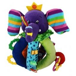 фото Мягкая игрушка развивающая Жирафики «Цветной слоник с прорезывателями»