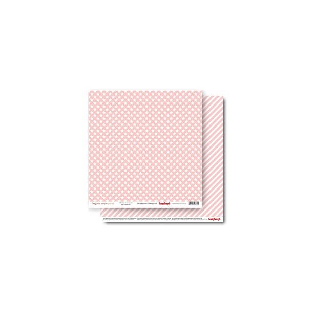 фото Бумага для скрапбукинга двусторонняя ScrapBerry's «Звездочки. Розовый кварц»