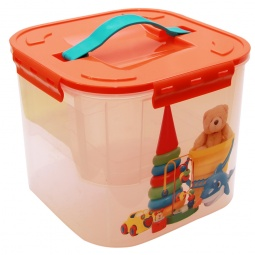 фото Контейнер для хранения мелочей с вкладышем IDEA «Деко. Игрушки». Объем: 7 л