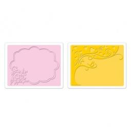 фото Форма для эмбоссирования Sizzix Textured Impressions Дерево и цветочная рамка
