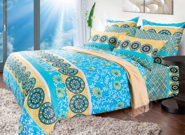Комплект постельного белья Primavelle «Месур». 1,5-спальный1,5-спальные<br>Комплект постельного белья Primavelle Месур это незаменимый элемент вашей спальни. Человек треть своей жизни проводит в постели, и от ощущений, которые вы испытываете при прикосновении к простыням или наволочкам, многое зависит. Чтобы сон всегда был комфортным, а пробуждение приятным, мы предлагаем вам этот комплект постельного белья. Приятный цвет и высокое качество комплекта гарантирует, что атмосфера вашей спальни наполнится теплотой и уютом, а вы испытаете множество сладких мгновений спокойного сна. В качестве сырья для изготовления этого изделия использованы нити хлопка. Натуральное хлопковое волокно известно своей прочностью и легкостью в уходе. Волокна хлопка состоят из целлюлозы, которая отлично впитывает влагу. Хлопок дышит и согревает лучше, чем шелк и лен. Поэтому одежда из хлопка гарантирует владельцу непревзойденный комфорт, а постельное белье приятно на ощупь и способствует здоровому сну. Не забудем, что хлопок несъедобен для моли и не деформируется при стирке. За эти прекрасные качества он пользуется заслуженной популярностью у покупателей всего мира. Комплект постельного белья выполнен из ткани бязь. Бязь это одна из самых популярных тканей. Постоянному спросу на такую ткань способствует то, что на протяжении многих лет она остается незаменимой в производстве постельного белья, медицинской одежды, мужских сорочек и даже детских пеленок. Это объясняется уникальными свойствами такой ткани: гладкая и приятная на ощупь, но в то же время очень прочная и стойкая к многочисленным стиркам. Комплект из бязи прослужит очень долго, если соблюдать простые рекомендации. Необходимо стирать при температуре 40 , используя порошок для цветного белья. Не применять хлорсодержащие средства и отбеливатели. Желательно выворачивать белье наизнанку перед стиркой. Гладить при помощи утюга с функцией подачи пара или через влажную ткань.<br>