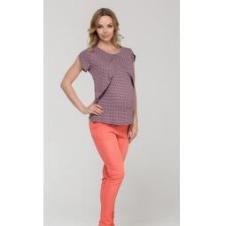 Купить Блузка для беременных Nuova Vita 1329.3. Цвет: коралловый