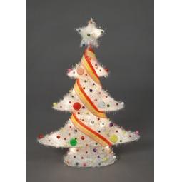 фото Декорация с подсветкой Holiday Classics «Елка новогодняя уличная». Цвет: белый