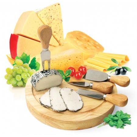 Купить Набор для резки сыра из 4-х приборов и деревянной доски Bradex Рокфор