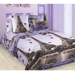 фото Комплект постельного белья Королевское Искушение с компаньоном «Романтика Парижа». 2-спальный. Размер простыни: 220х195 см