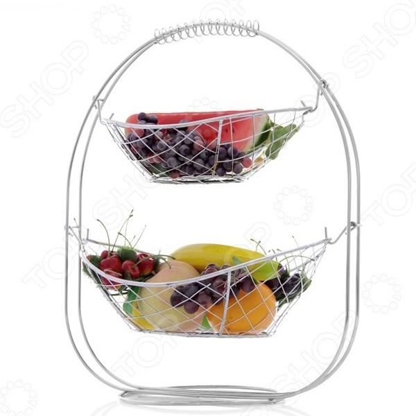 Фруктовница Rosenberg 6328Фруктовницы<br>Фруктовница Rosenberg 6328 оригинальная модель, которая станет прекрасным дополнением к комплекту ваших столовых принадлежностей и отлично подойдет как для сервировки праздничного стола, так и для повседневного использования. Помимо фруктов, посуду так же можно использовать для подачи десерта: конфет, печенья, кексов или круассанов, будьте уверены - гости обязательно оценят такой оригинальный аксессуар. Модель выполнена из высококачественных экологически чистых материалов.<br>