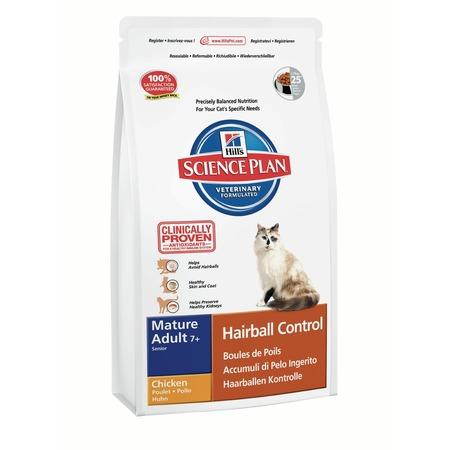 Купить Корм сухой диетический для пожилых кошек Hill's Science Plan Senior Hairball Control