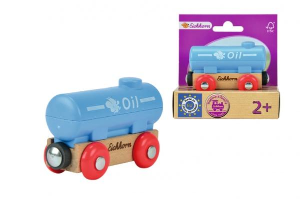 Вагончик игрушечный Eichhorn «Вагон с цистерной»Железные дороги<br>Вагончик игрушечный Eichhorn Вагон с цистерной - симпатичный вагончик с цистерной, который позволит вашему ребенку провести много хороших моментов за игрой. Выполнен вагончик из экологически безопасных материалов. Компактные размеры позволят брать игрушку с собой. Такой вагончик можно присоединить к любому грузовому составу деревянной железной дороги от Eichorn. Вагончик станет прекрасным подарком для вашего ребенка.<br>